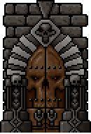 #TinyNecro - portal door to the lava levels. Pixel art, 8 bit, retro game, IOS, ANDROID. #PearFiction