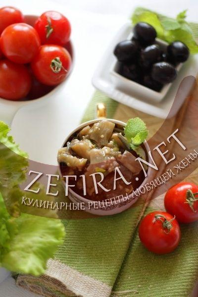 Закуска из баклажанов с мятой-домашние рецепты с фото