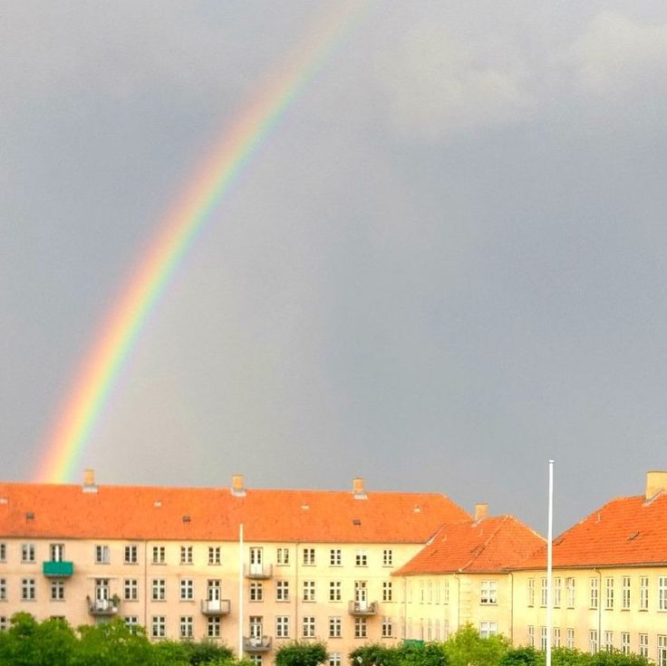 Beautiful #rainbow in #copenhagen