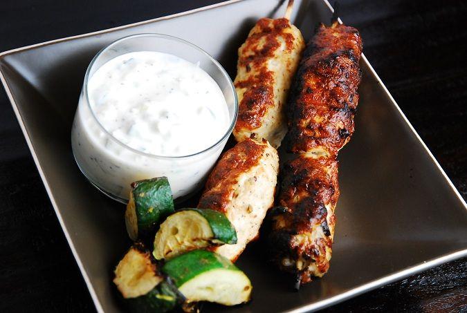 Grilled Middle Eastern Turkey Kebabs with Cucumber Yogurt Dip – 6 ...