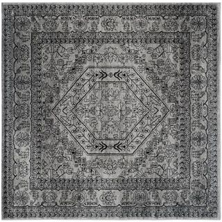 Safavieh Adirondack Silver/ Black Rug (8' Square) | Overstock™ Shopping - Great Deals on Safavieh Round/Oval/Square