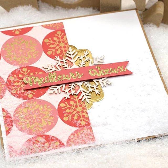 Encore une jolie carte de vœux réalisée par Angèle ! Par ici le tuto : http://www.toga-shop.com/carterie-diy-ma-carte-de-voeux-or-de-bombay-rose.html  #diy #doityourself #carte #handmade #faitmain #happy2018 #wrlcome2018 #carterie #meilleursvoeux #bonneannée
