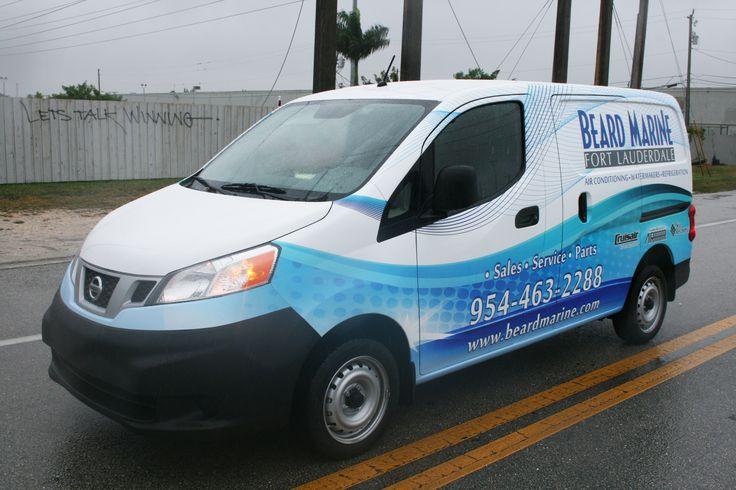 Nissan NV 200 Commercial Van Wrap Davie Florida | Beard Marine