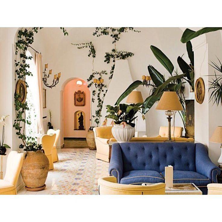 Friday inspo via @tmagazine lobby of hotel on the Amalfi coast @lesirenuse #nodirugs #tmagazine #friday #inspo #interiors #design #vivaitalia #colour #texture #layers #nature by nodirugs