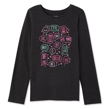 george girls' long sleeve print t-shirt | my portfolio - apparel ...