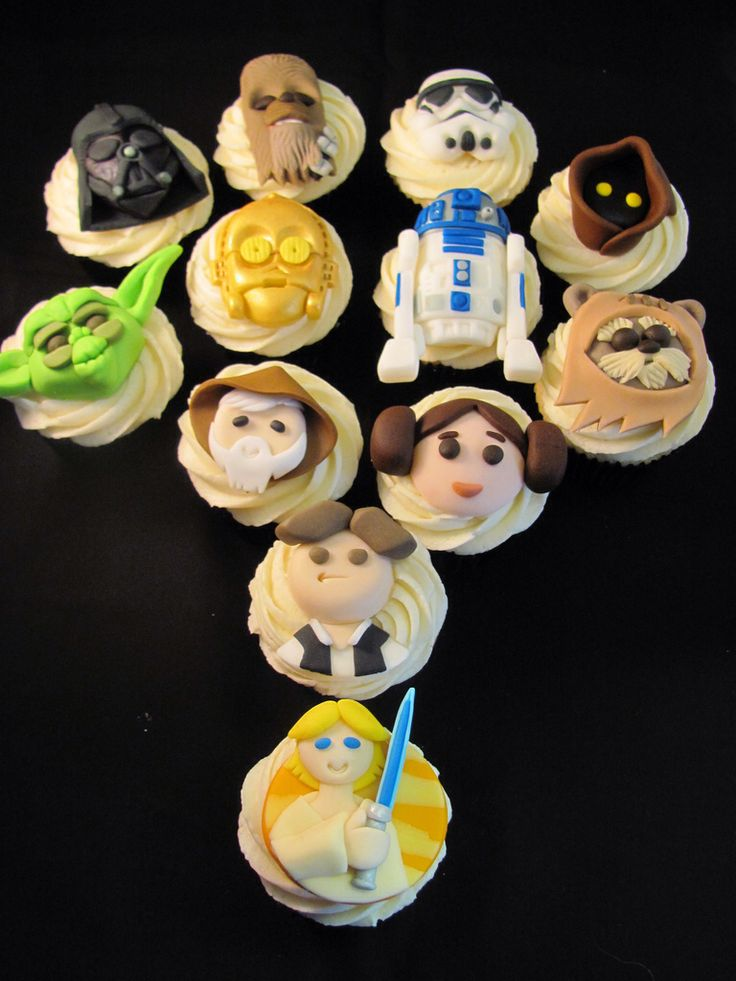 23 best Star Wars images on Pinterest 12 cupcakes Anime cake