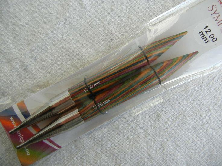 KnitPro Symfonie Holz  lange Nadelspitzen 12.0 mm von Pentisulea's auf DaWanda.com