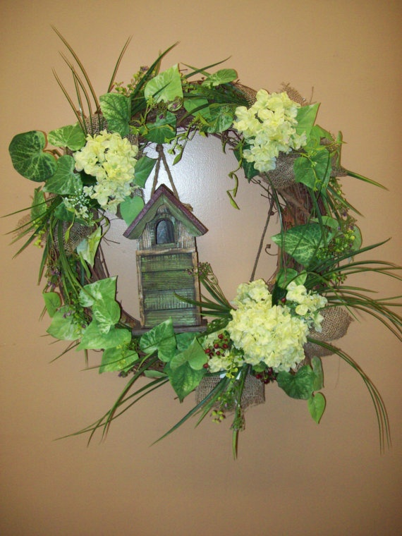 Home Tweet Home Wreath by CreativeFlorists on Etsy, $74.99