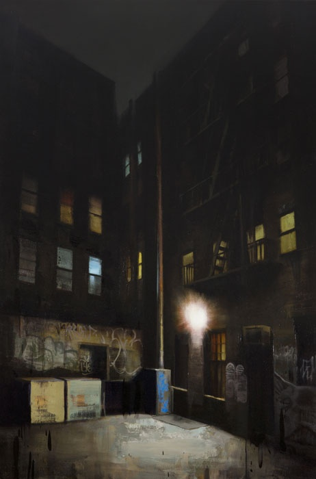 Light in Dark - Oil on Canvas by Kim Cogan