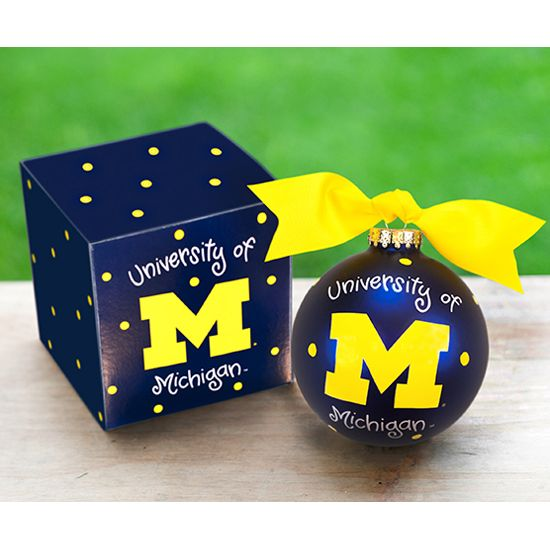 University of Michigan Wolverines Logo Ornament | 'Tis The Season | Michigan,  University of michigan, Michigan wolverines - University Of Michigan Wolverines Logo Ornament 'Tis The Season