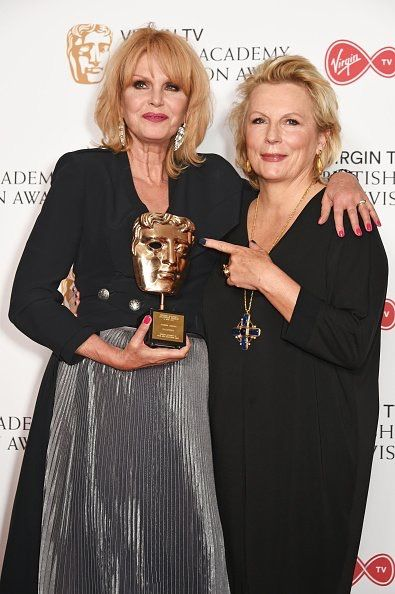 BAFTAs 2017 - Joanna Lumley and Jennifer Saunders