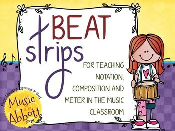 This+is+a+great+instructional+manipulative+that+your+students+can+use+for+notation+and+dictation.++Using+a+beat+strip+in+either+4/4+or+3/4+meter,+students+can+compose+rhythmic+patterns+or+take+dictation+from+the+teacher.++The+patterns+for+4/4+meter+can+be+4+or+8+beats+in+length+and+the+patterns+in+3.4+meter+can+be+3+or+6+beats+in+length.The+rhythms+are+written+in+both+stick+notation+and+rhythmic+notation+with+note+heads.