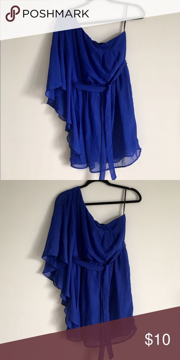 One Shoulder Royal Blue Party Dress One Shoulder royal blue party dress! There are a few slight picks on the right side, but still in good condition Lily Rose Dresses One Shoulder