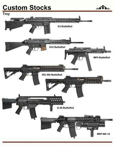 Troy Custom Stocks For G3 G33 G36 Mp5 Guns And