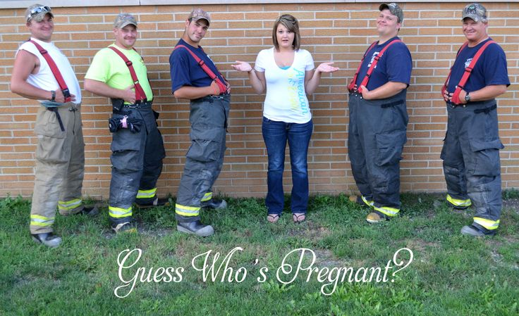 Firefighters,,,, guess who's pregnant? Funny pregnancy announcement.
