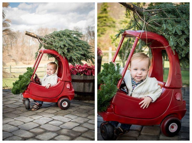 little tykes car | christmas tree on car | christmas card ideas | children christmas card | new jersey photographer