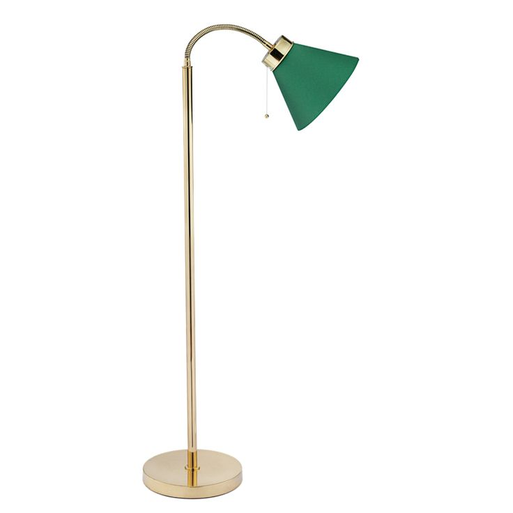 Floor Lamp 1838 Brass, 6,200 SEK, which I believe is about $932.  Way past our price range, but it was the only one I found that had the nice library-green lamp shade.