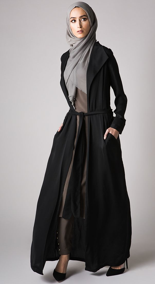 Trench Cover Up - Black  Check out our collections of Beautiful hijabs http://www.lissomecollection.co.uk/New-arrivals