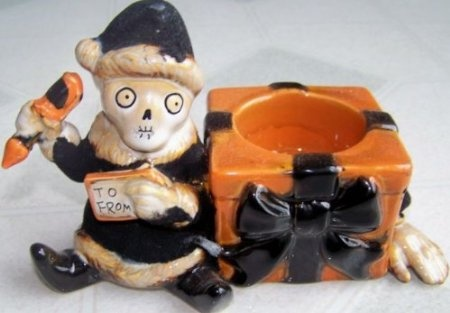 Boney Bunch Yankee Candle Halloween Christmas Santa Elf Tea Light Tealight Holder: Home & Kitchen