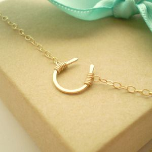 Tiny Luck Horseshoe Necklace- cute!