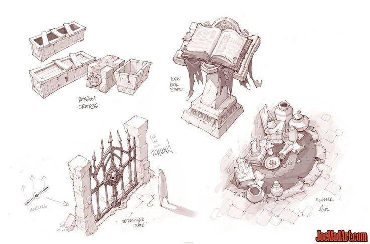 Battle-Chasers-NightWar-dungeon-prop-2-conceptart-madureira-pencil.jpg (1211×800)