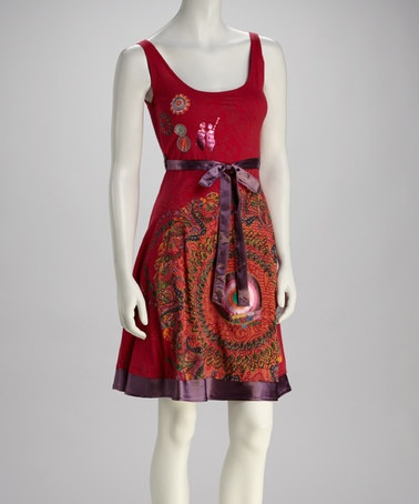Take a look at this Red Emblem Dress by Desigual on #zulily today!