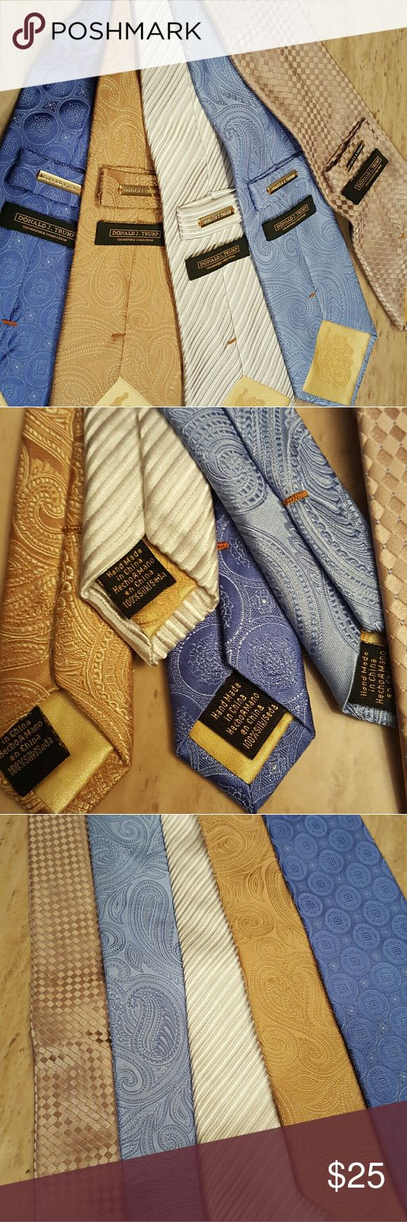 Donald Trump Ties Bundle of 5 ties.. From Macy's. Very NICE!  Lmao, the name on the ties says it all.. I have more ties then I know what to do with. Enjoy the bundle!!!! Accessories Ties