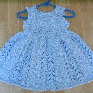 Kız Bebeklere Örgü Elbise Modelleri 184