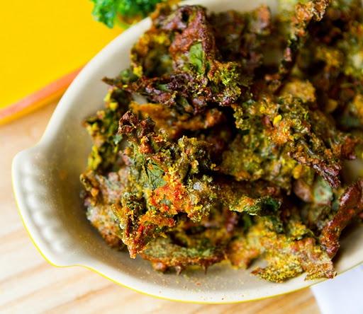 cheesy kale chips | Légume | Pinterest
