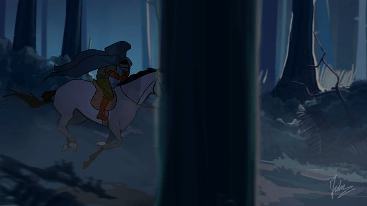 An animation based on the poem Der Erlkönig by Johann Wolfgang von Goethe. Krol Olch- grim reaper