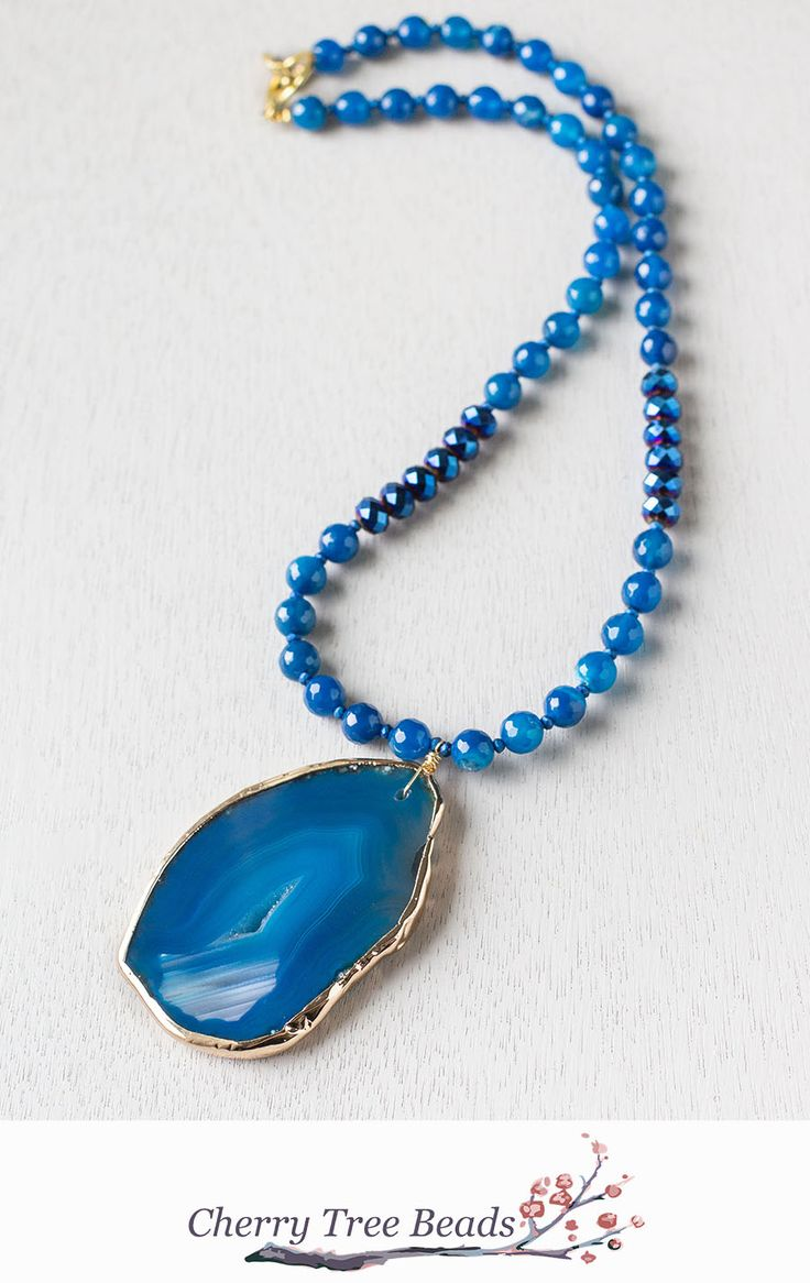 Easy Agate Slice Necklace