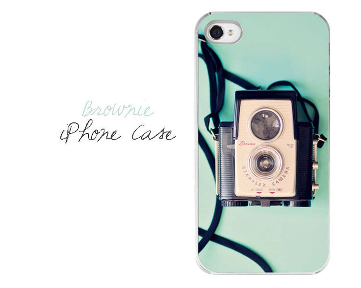 Caméra Case - Vintage Camera iPhone 4/4 s 5 cas - Pastel Turquoise Noir Brownie caméra boîtier en plastique téléphone - appareil photo iPhone Etui iPhone par JessaMaePhoto sur Etsy https://www.etsy.com/fr/listing/150549222/camera-case-vintage-camera-iphone-44-s-5