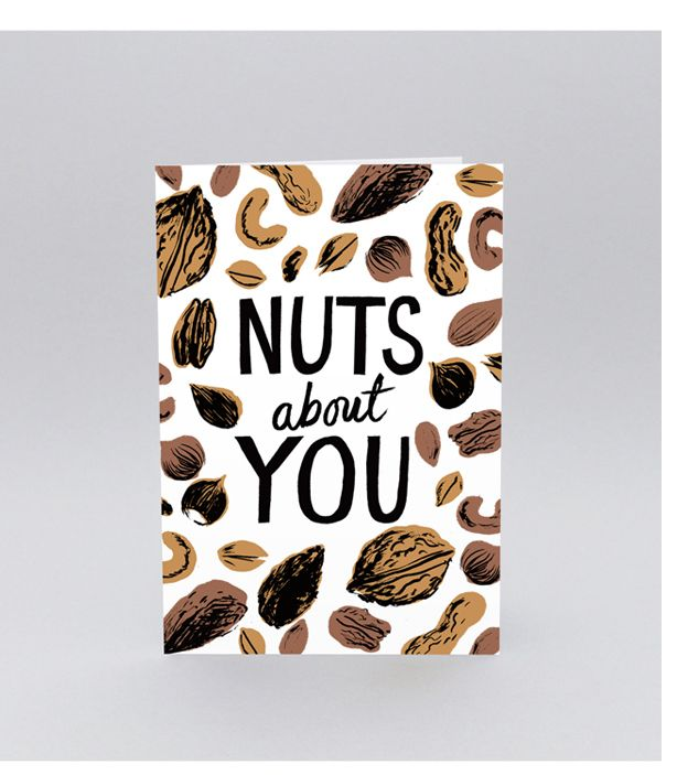 'Nuts About You' Greetings Card  by Nicholas John Frith #illustration #greetingcard