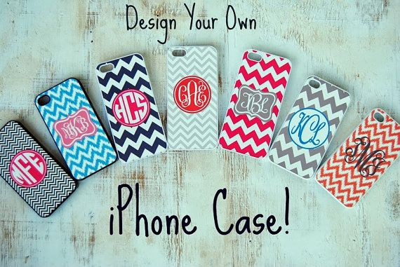Design Your Own Personalized iPhone Case, iPhone 4, iPhone 4S, iPhone 5, Monogrammed Phone Case on Etsy, $15.00