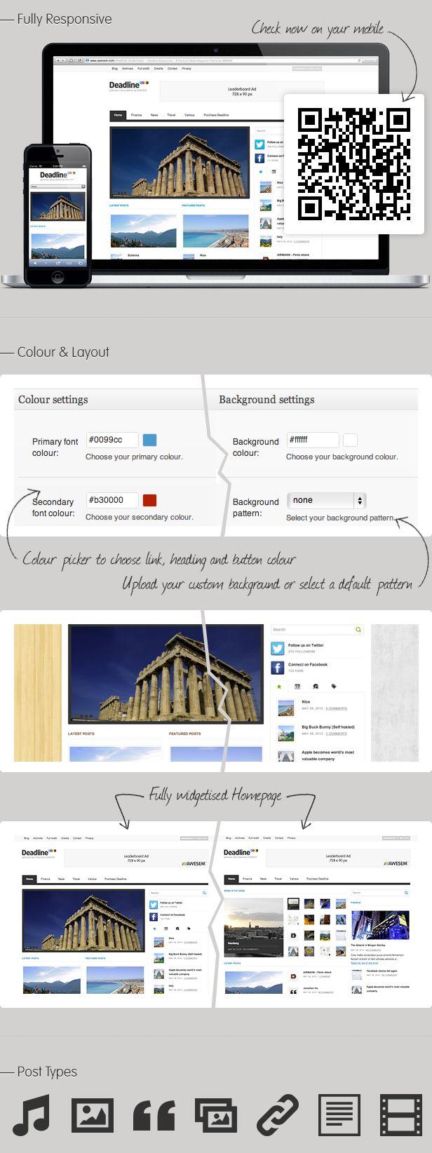 Color picker online upload image - Deadline Responsive Wordpress News Magazine Theme