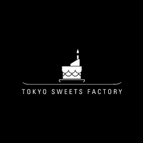 TOKYO SWEETS FACTORYのロゴ:真横から切り取る、そして | ロゴストック
