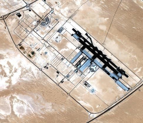 DubaiSat-1 aerial image of Al Maktoum International Airport