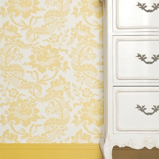Yellow Wallpaper N Baseboard F O R M Y H E Room Bedroom