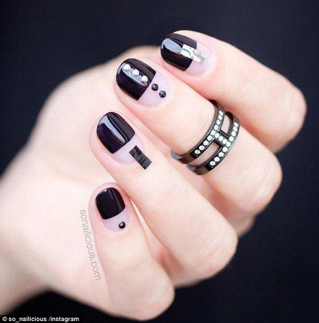 negative space manicure