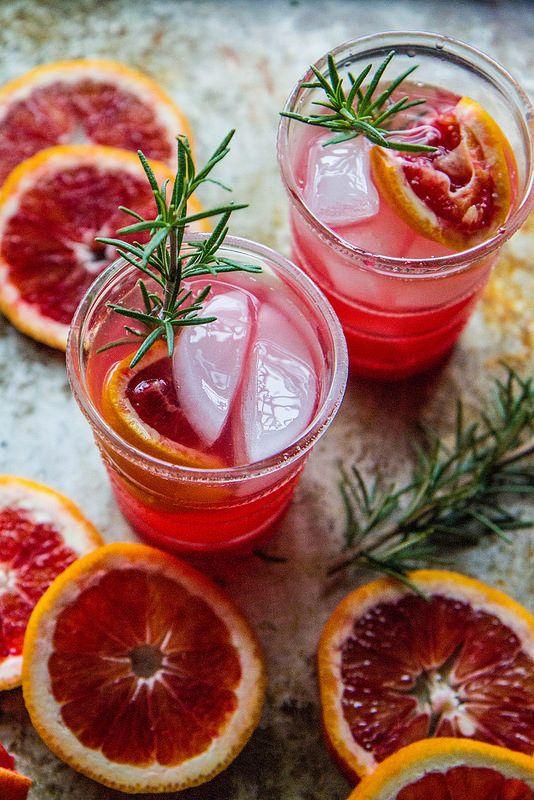 Blood Orange Rosemary Screwdriver | Heather Christo