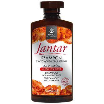 FARMONA Jantar, Szampon do włosów zniszczonych z bursztynem, 330 ml Wzmacnia, odżywia i pielęgnuje, przywraca zdrowy wygląd, stymuluje wzrost