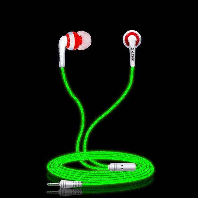 Glylezee Luminous Stereo Earphone (Glowing in Dark)