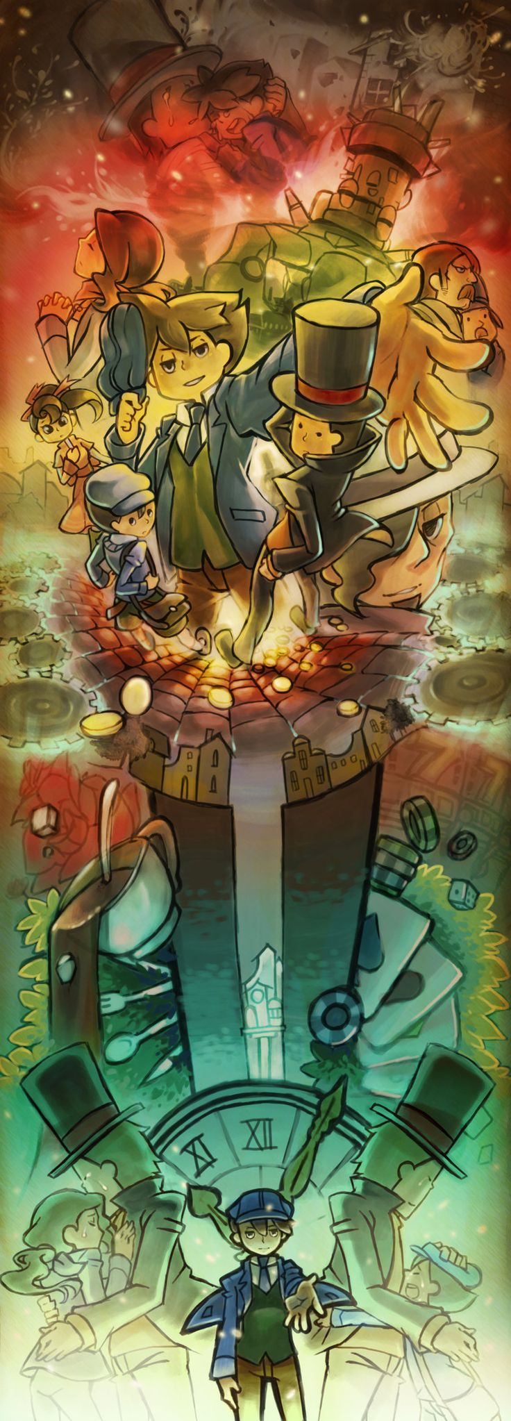 Professor Layton and the Unwound Future. A game with a very depressing, but happy, storyline. God only a true fan cries every time. Which includes me.