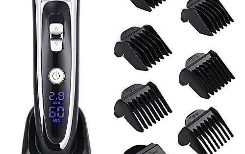 GHB SURKER Tondeuse Cheveux Professionnelle Tondeuse Barbe Electrique Sans Fil Rechargeable avec 6 Peigne pour Enfants Adultes Personnes…