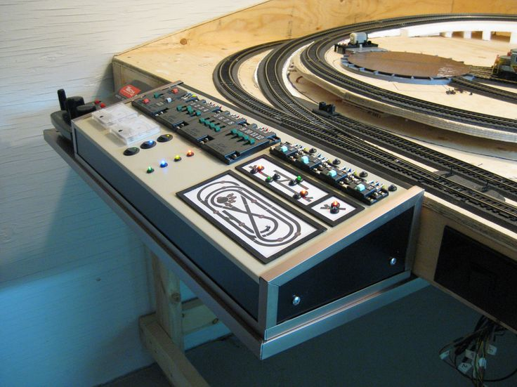 model railroadcontrol panel images | My wiring and control panel are finally complete! The challenge over ...