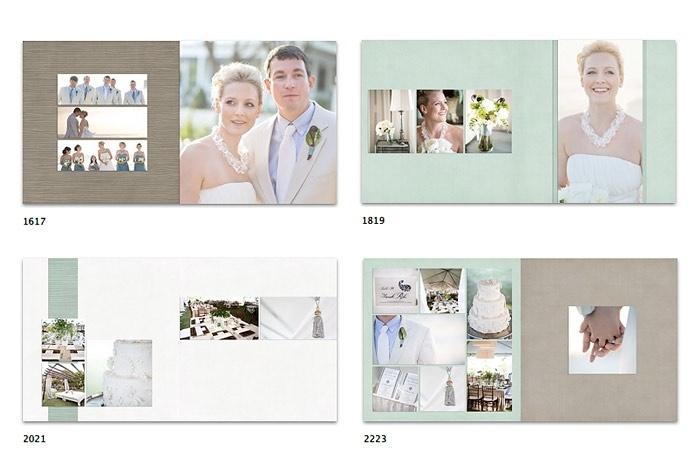 Photoshop Album Templates for Photographers - Seniors, Wedding, Boudoir, Pets, Engagement
