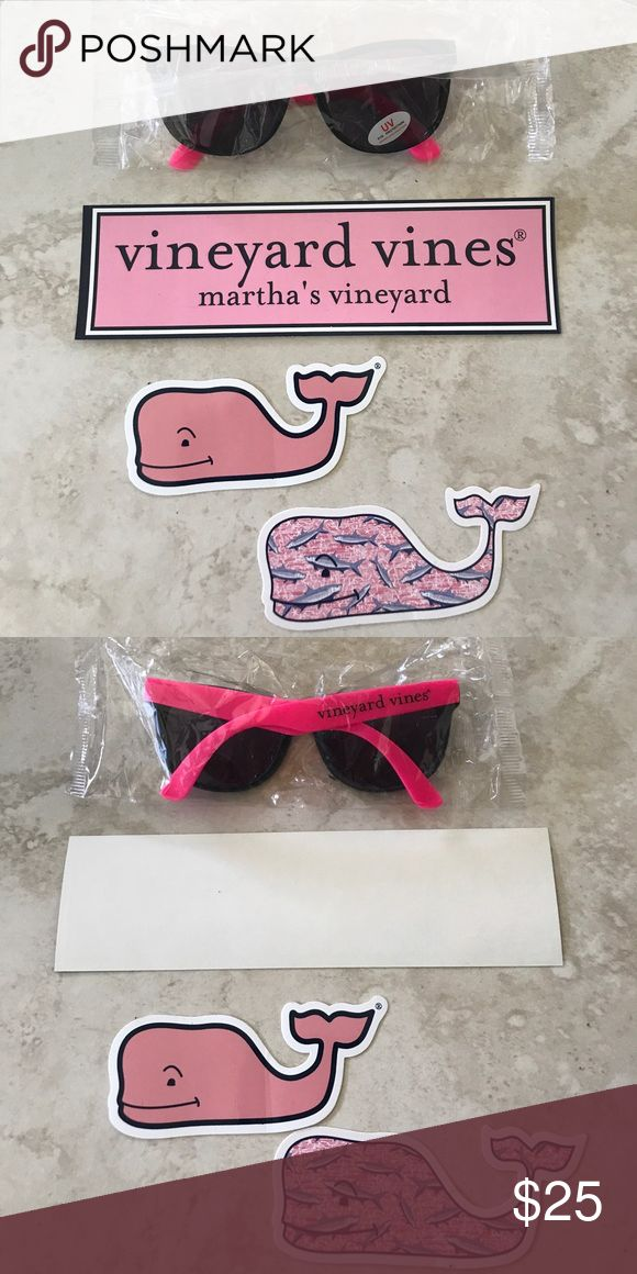 New 4 Vineyard Vines Whale Sticks. All 3 stickers and one one sun glasses brand new. Yes you can stick then anywhere like computer, cars...... $ 25 for 4. Vineyard Vines Accessories