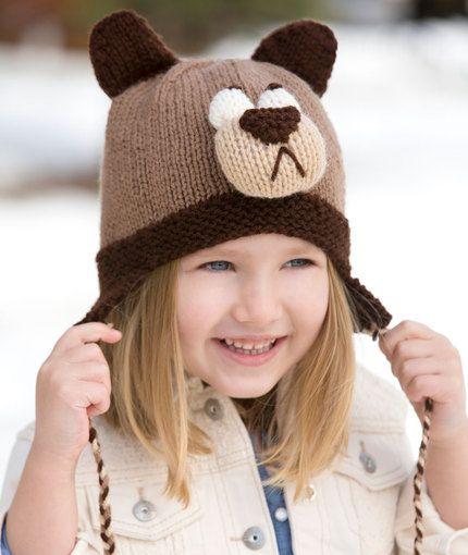 Bashful Bear Hat Knitting Pattern | Red Heart. http://www.redheart.com/free-patterns/bashful-bear-hat