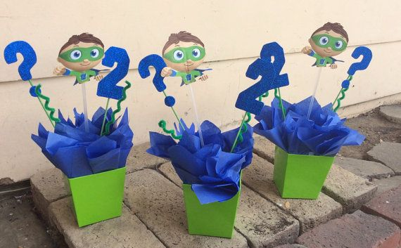 Super Why Birthday CenterPiece by FantastikCreations on Etsy, $14.00