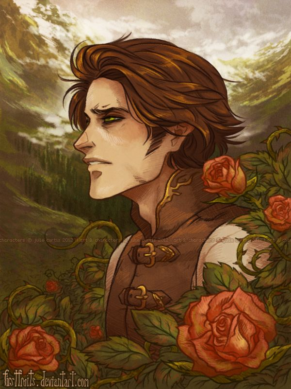 I love the mourning soulful look in his eyes...(B5: Rise of the Phoenix) ~Wendy Hamlet (Roses by firstfruits.deviantart.com)